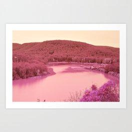 Nature went swimming VII Art Print