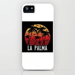 La Palma Palm Tree Holiday Motif Gift Idea Design iPhone Case