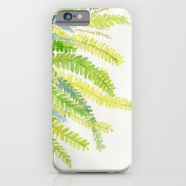 Fern Leaves Watercolor iPhone Case