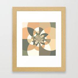 Beige Peach Kaleidoscope Framed Art Print