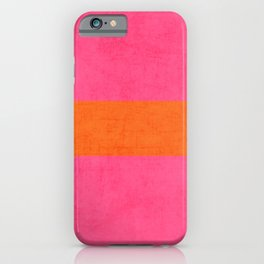 hot pink and orange classic  iPhone Case