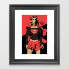 Girl of Steel Framed Art Print
