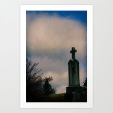 Grave on the Hill Art Print