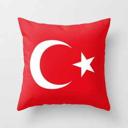 National flag of Turkey, Authentic color & scale Throw Pillow