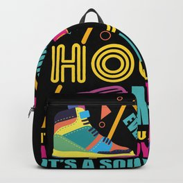House Music Old School Vintage Design Backpack