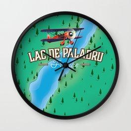 Lac de Paladru France travel map Wall Clock