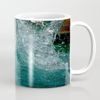 splash Mugs featuring Splash by Leah McPhail
