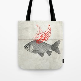 Flying Goldfish Tote Bag