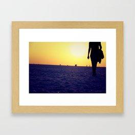 Walking away Framed Art Print