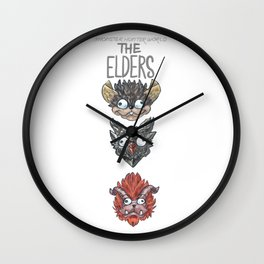 Monster Hunter World Elder Dragons Dropdown Version Wall Clock