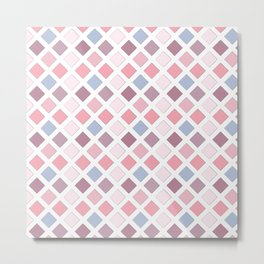Pink diamonds Metal Print