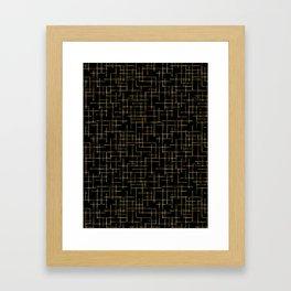 Luxe Gold Criss Cross Weave Hand Drawn Vector Pattern Framed Art Print