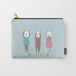 Three Wise Bunnes Carry-All Pouch