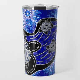 Baby Sea Turtles - Aboriginal Art Travel Mug