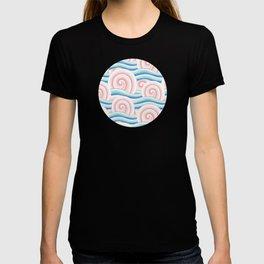 Pastel Auspicious Waves T-shirt