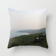 The White Cliffs of Dover, England (2012) Throw Pillow