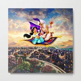jasmine aladdin flying carpet Metal Print