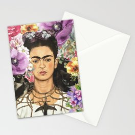 Frida Flower abstract Stationery Cards