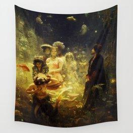 Sadko in the Underwater Kingdom by Ilya Repin Wall Tapestry