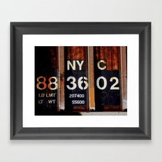 NYC 88 36 02 Framed Art Print