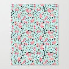Cherry Blossom Pattern(sky) Canvas Print
