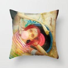 Bubblegum Pop Throw Pillow