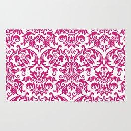 Elegant Damask Pattern (fuchsia) Rug