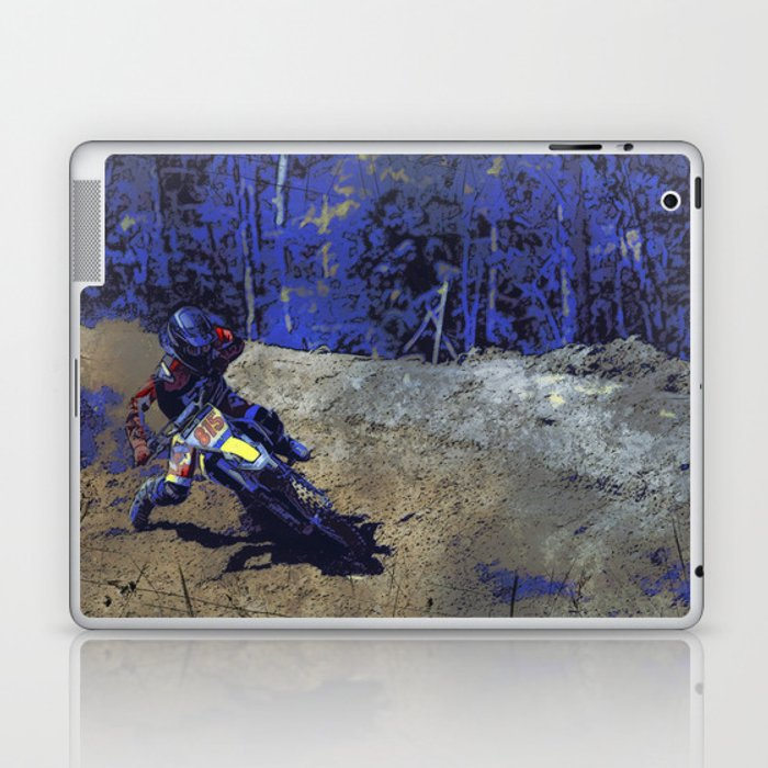 Leaning In - Motocross Racer Laptop & iPad Skin