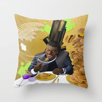 gucci Throw Pillows featuring Gucci Mane by Karlyfries Studios
