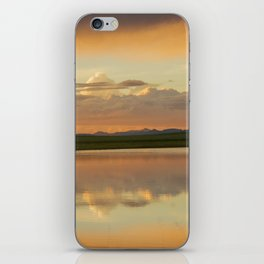 Sunset at the town iPhone Skin