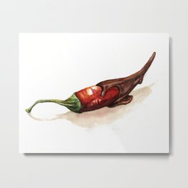 Chocolate Covered Pepper Metal Print
