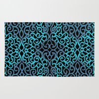 celtic Area & Throw Rugs featuring celtic blue by Ariadne