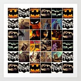 We Are All Bat-man? Art Print