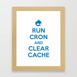 Run Cron and Clear Cache Framed Art Print