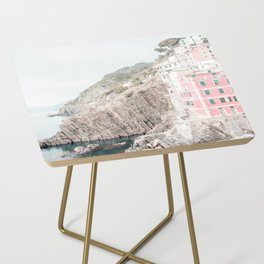 Positano, Italy pink-peach-white travel photography in hd. Side Table