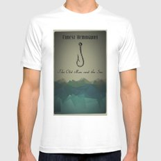 The Old Man and the Sea White MEDIUM Mens Fitted Tee