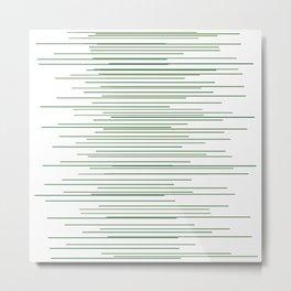 Thin Green Lines Swaying Metal Print
