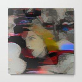 Dual Portrait Multicolored Metal Print
