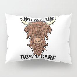 Wild Hair Don't Care Hipster Hairstyles Gift Pillow Sham