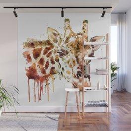 Giraffe Head Wall Mural