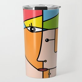 Rostros abstractos Travel Mug