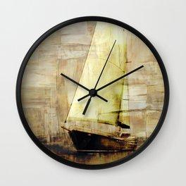 big sailboat Wall Clock