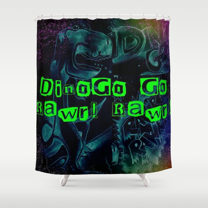 DINOGO GO! GLOW! Shower Curtain