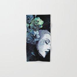 Obey Me: Blue (graffiti flower woman portrait) Hand & Bath Towel