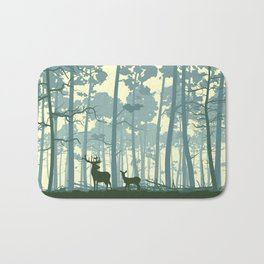 deer and deer in the forest Bath Mat