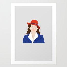 Agent Carter Vector Art Print