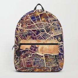 Edinburgh City Scotland Street Map Backpack