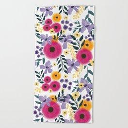 Spring Floral Bouquet Beach Towel