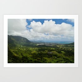 The Pali Lookout Art Print
