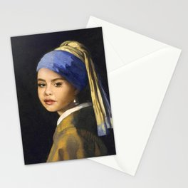 SelenaG. with Pearl Earring Stationery Cards